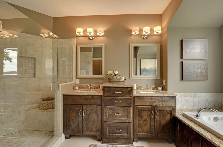 Bath vanities scandia custom cabinets - Custom wood bathroom cabinets ...