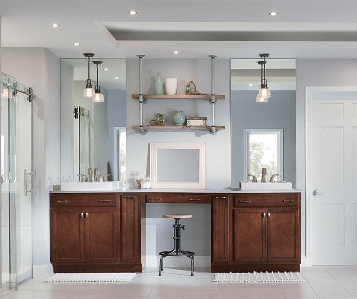 Semi custom scandia custom cabinets for Semi custom bathroom cabinets